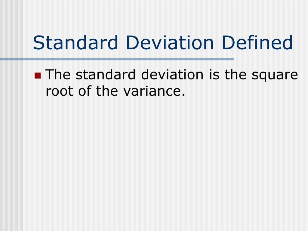 Standard Deviation Defined