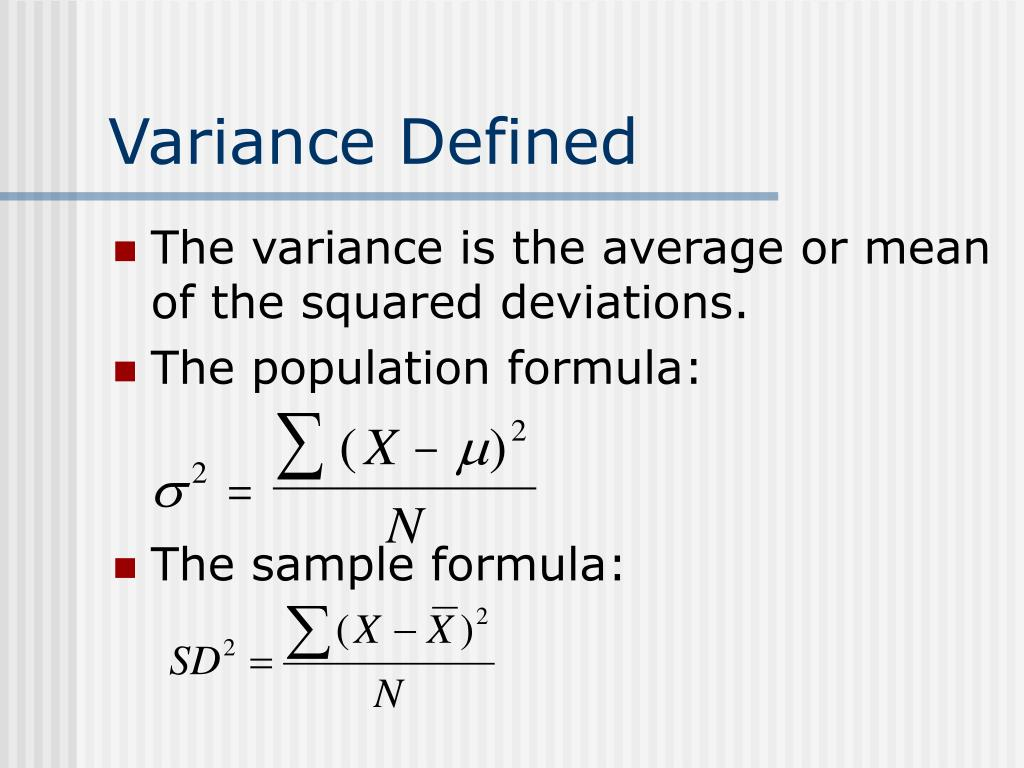 Variance Defined