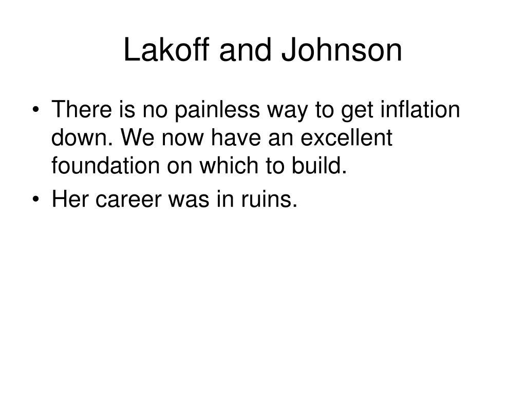 Lakoff and Johnson