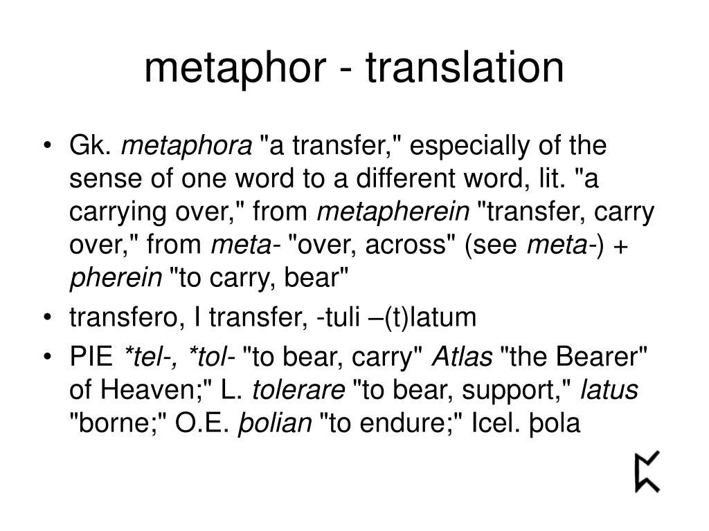metaphor - translation