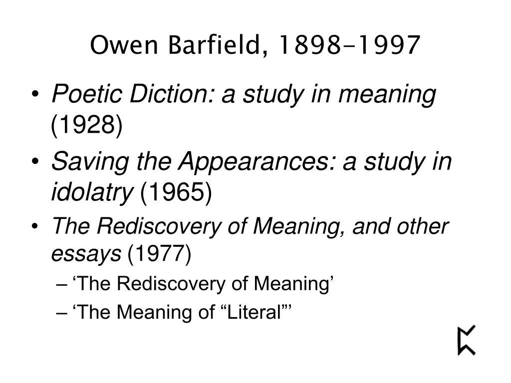 Owen Barfield, 1898-1997