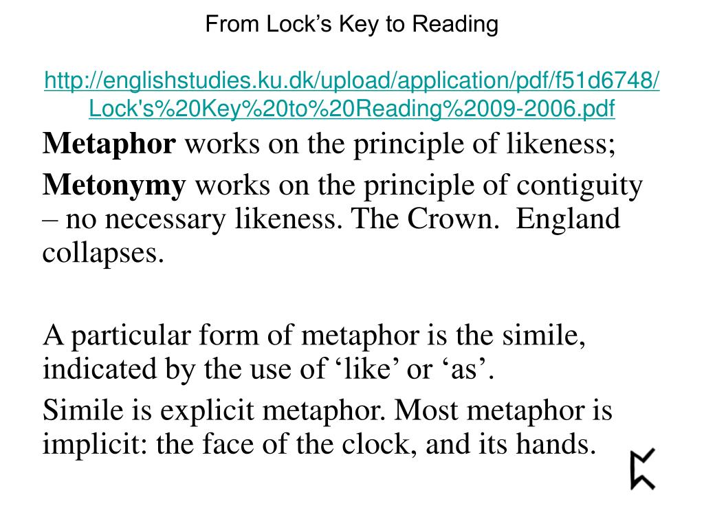 From Lock's Key to Reading