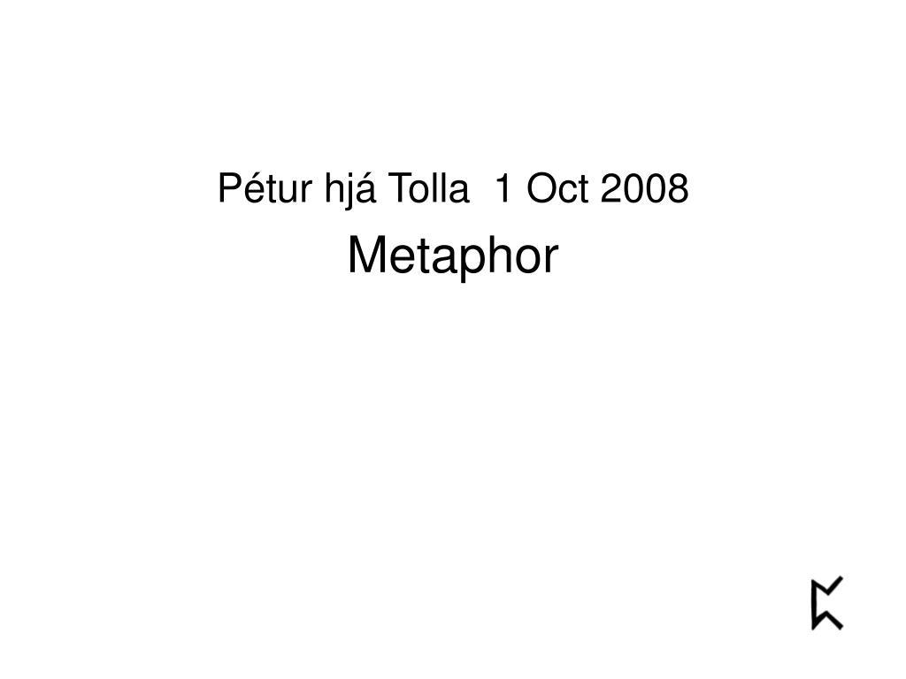 Pétur hjá Tolla  1 Oct 2008