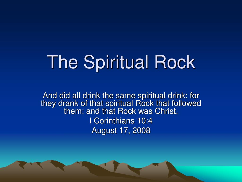 the spiritual rock l.