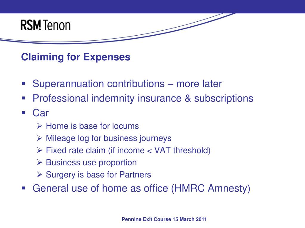 Claiming for Expenses