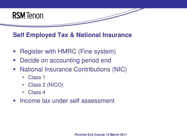 Self employed tax national insurance
