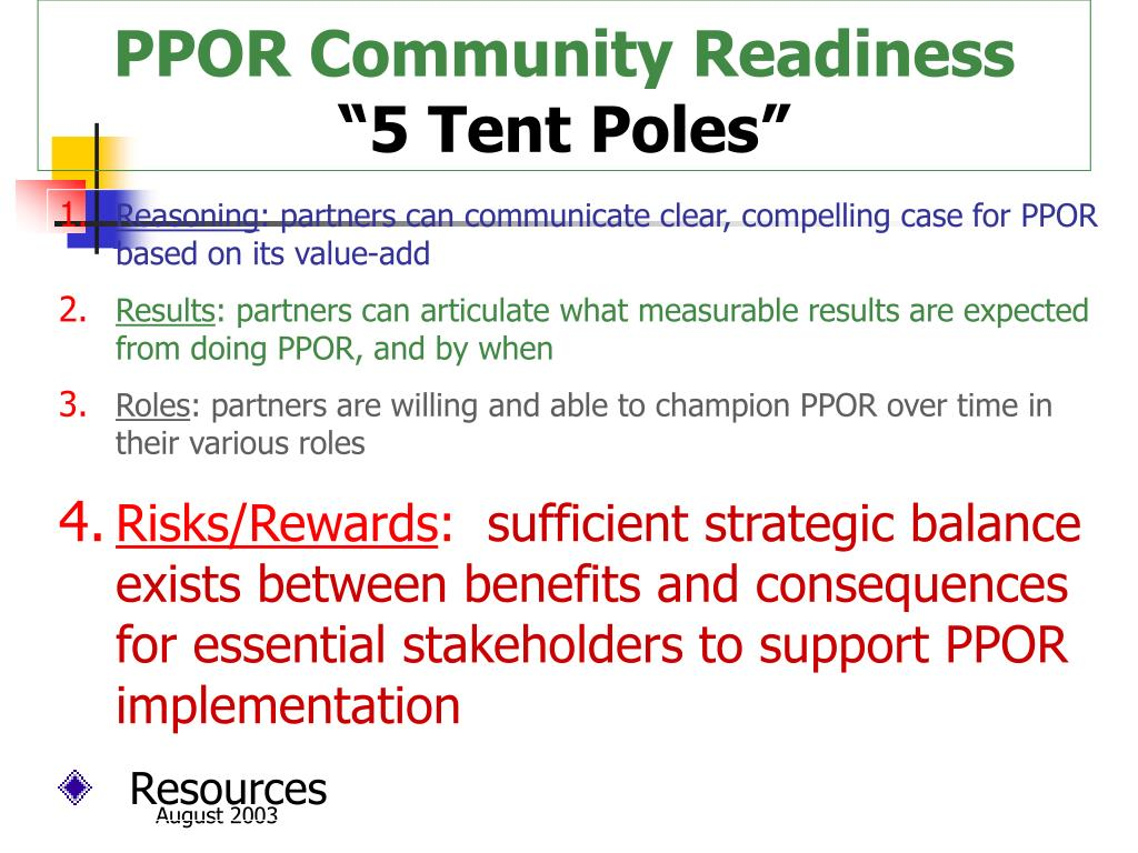PPOR Community Readiness