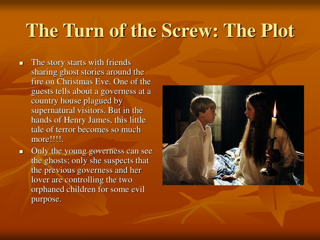 the turn of the screw essay Kristina lee the turn of the screw: an analysis of the reliability of the governess one of the most critically discussed works in twentieth-century american literature, the turn of the screw has inspired a variety of critical interpretations since its publication in 1898.
