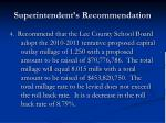 superintendent s recommendation34