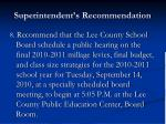 superintendent s recommendation38