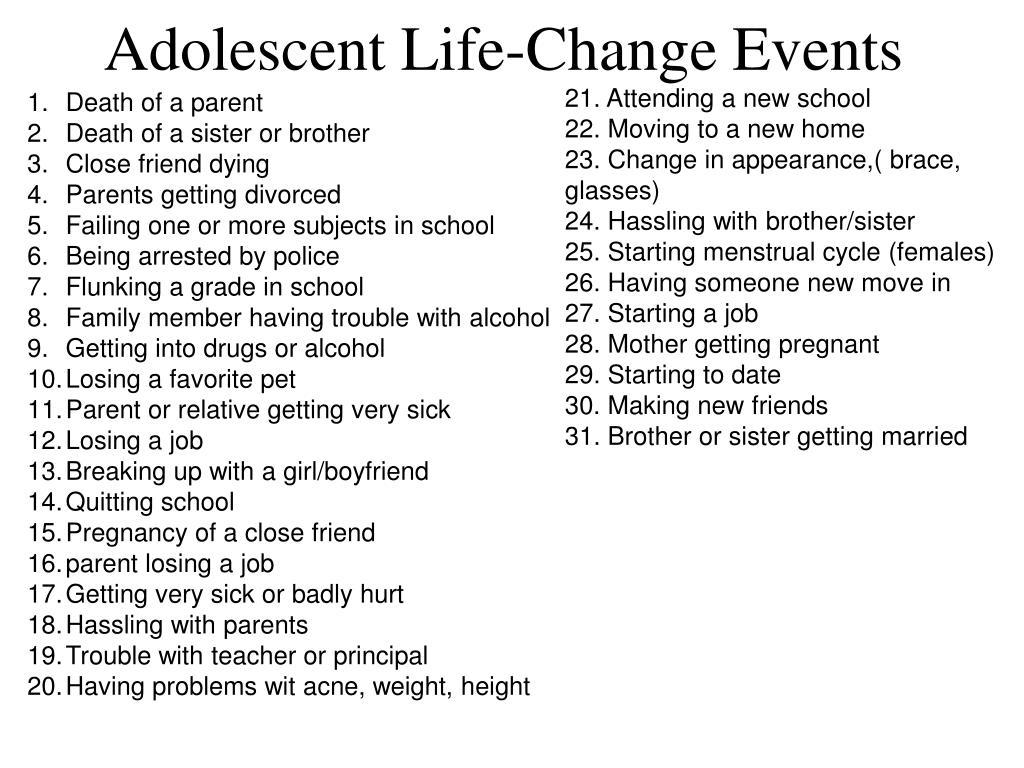 Adolescent Life-Change Events