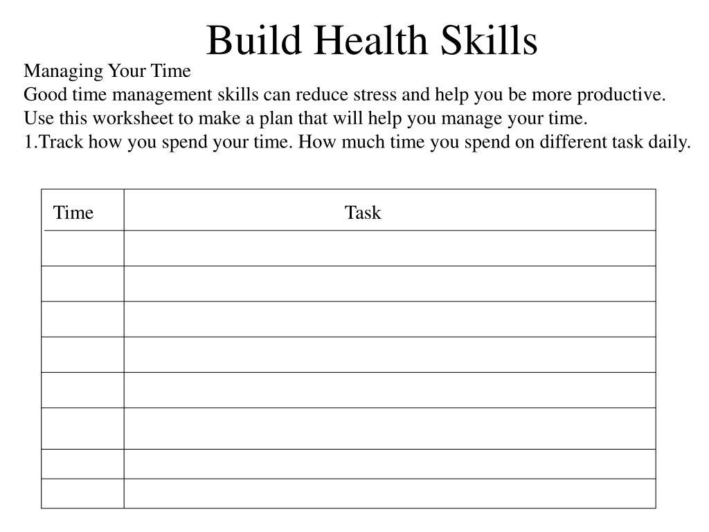 Build Health Skills
