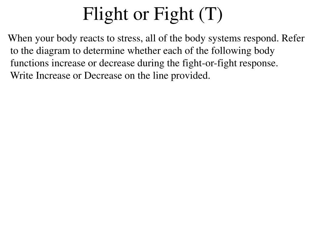 Flight or Fight (T)