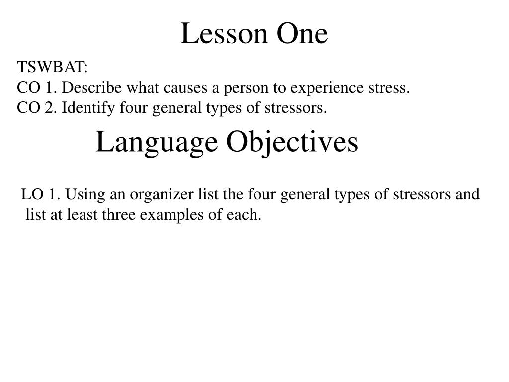 Lesson One