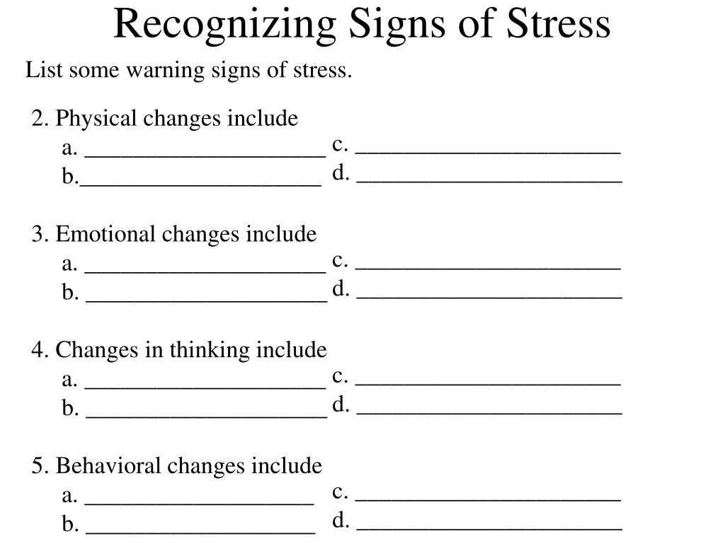 Recognizing Signs of Stress