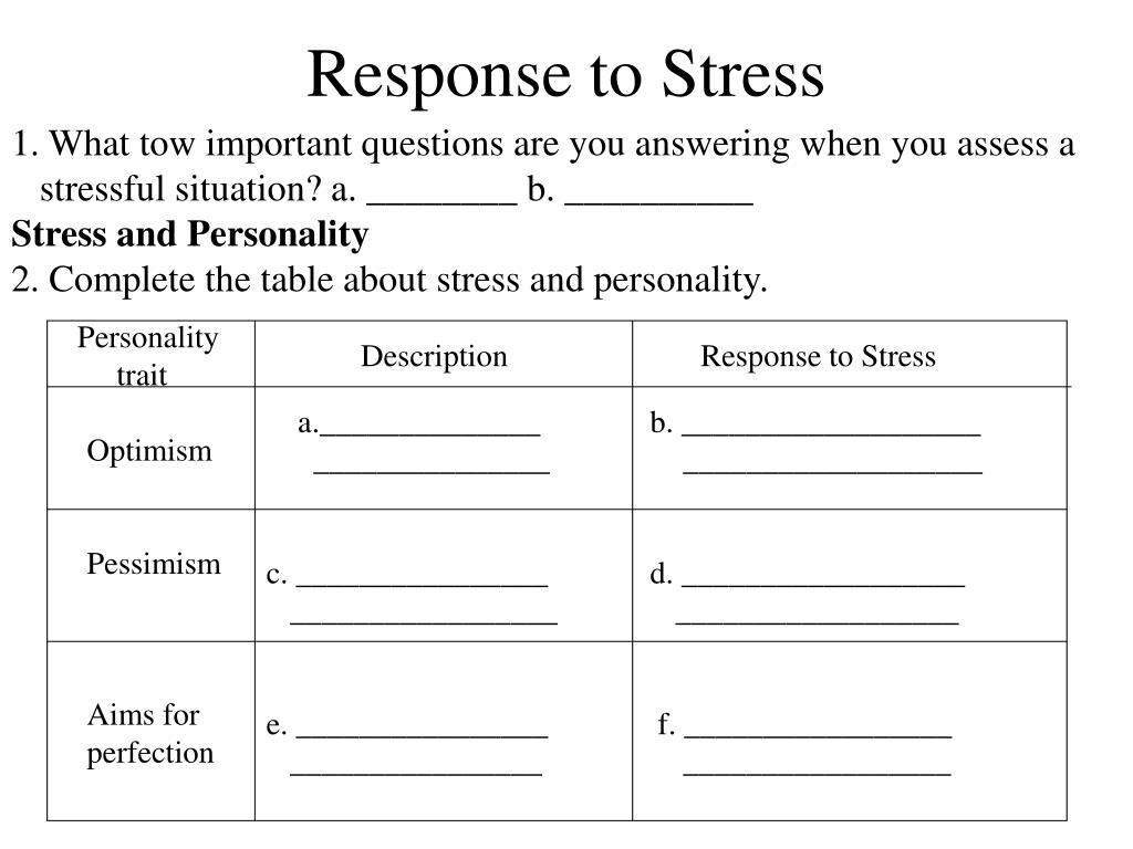 Response to Stress