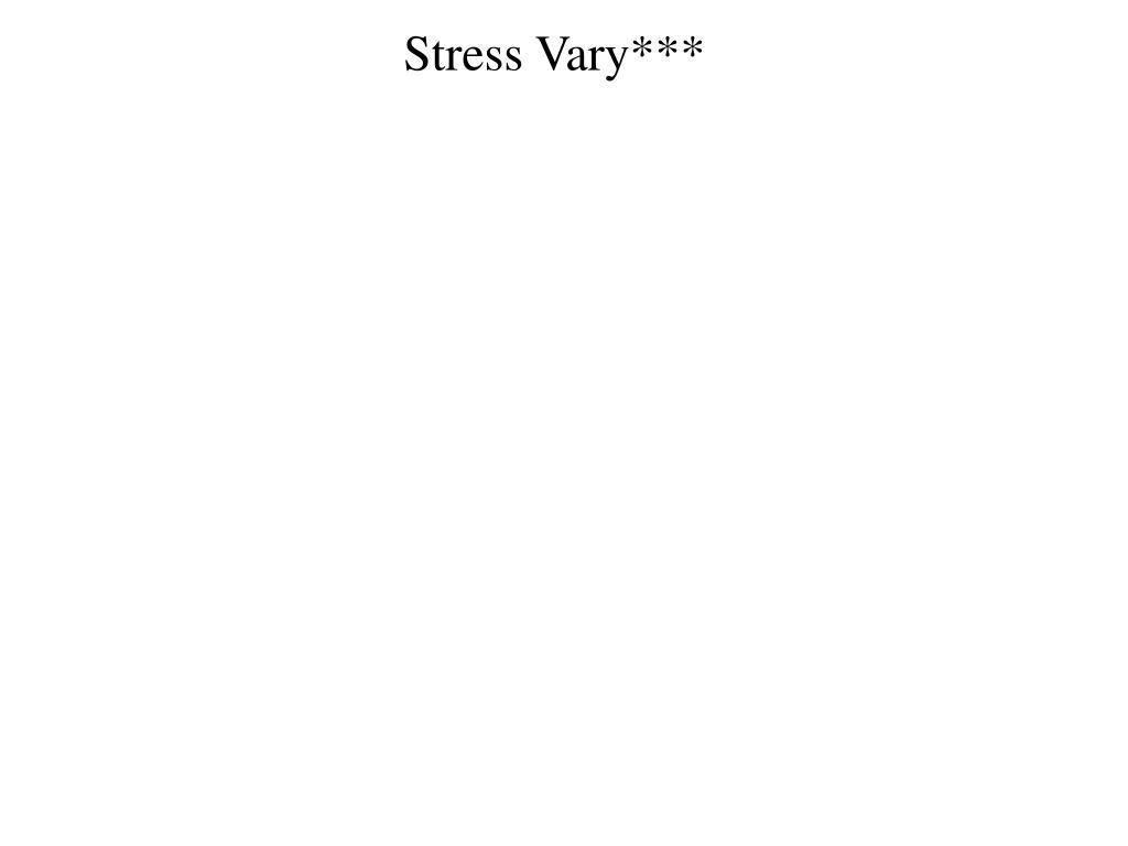 Stress Vary***