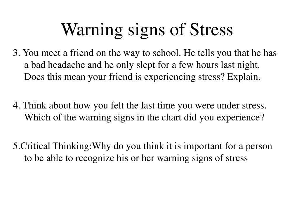 Warning signs of Stress