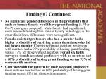 finding 7 continued