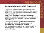 recommendations for ris continued24