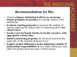 recommendations for ris