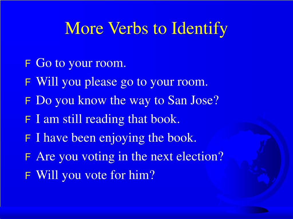 More Verbs to Identify