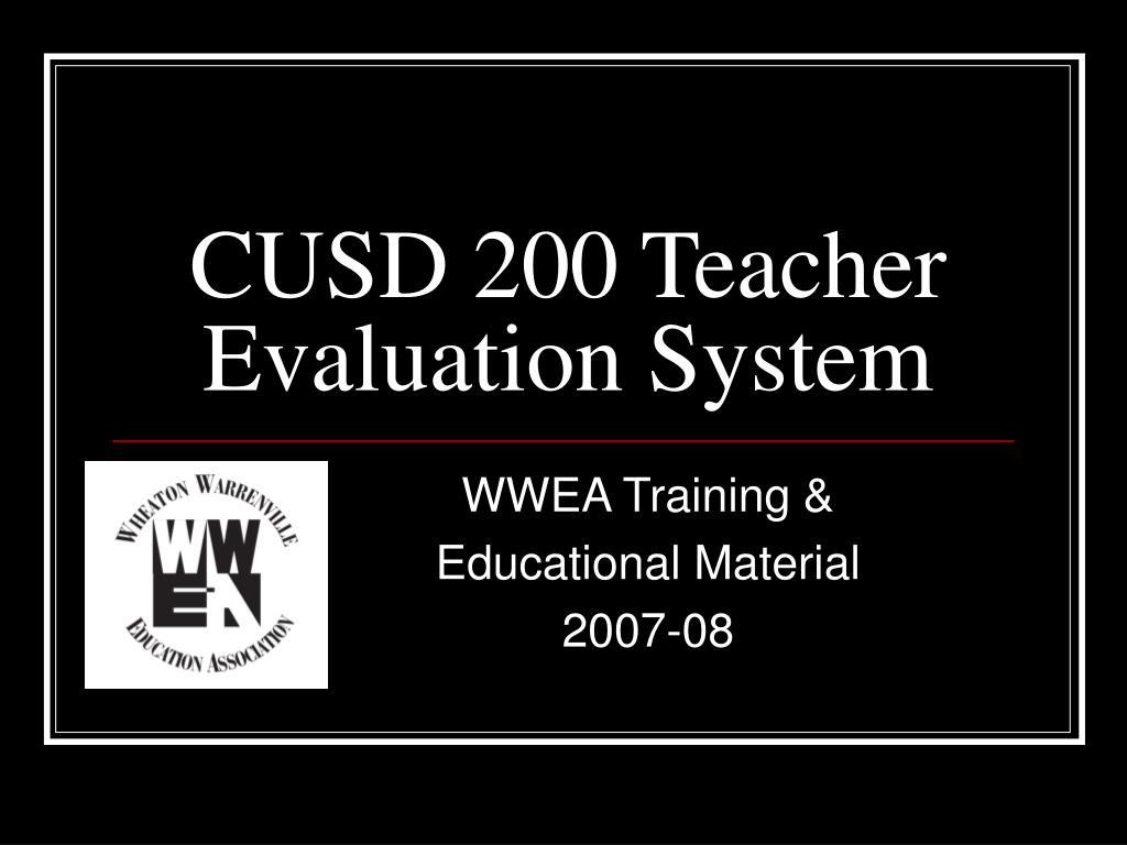 cusd 200 teacher evaluation system