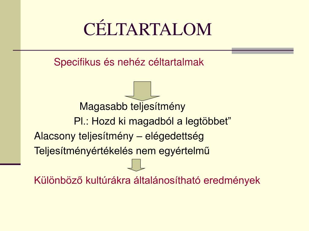 CÉLTARTALOM