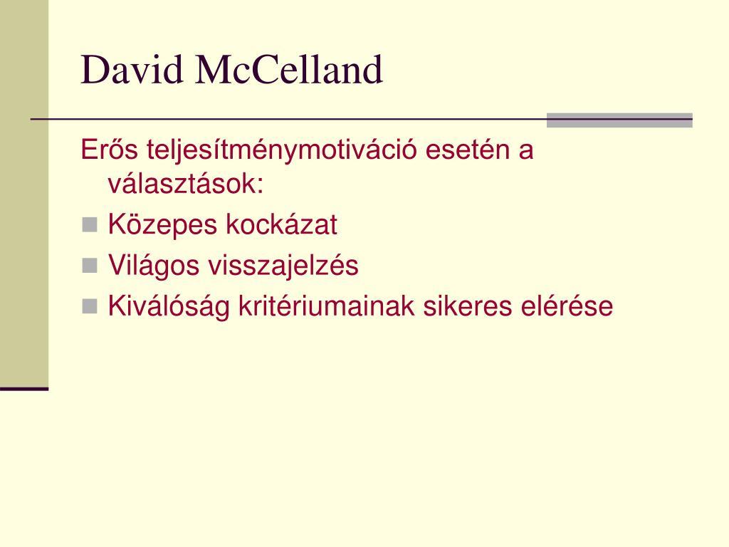 David McCelland