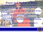 power and misuse of music