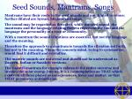 seed sounds mantrams songs