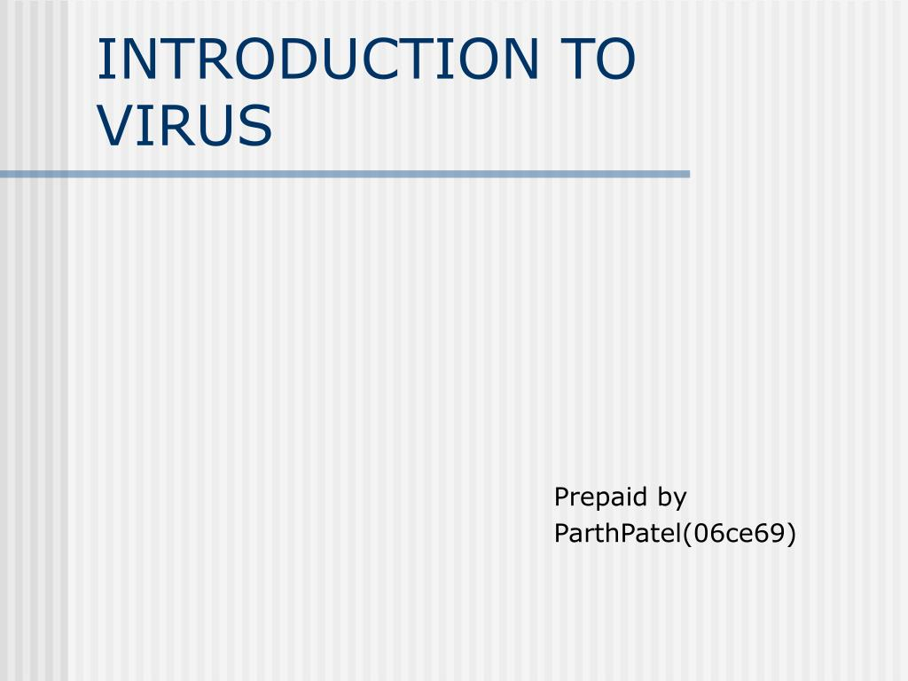 introduction to virus l.