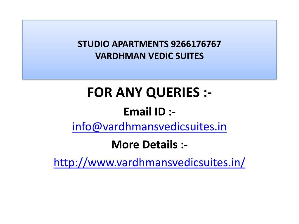 STUDIO APARTMENTS 9266176767