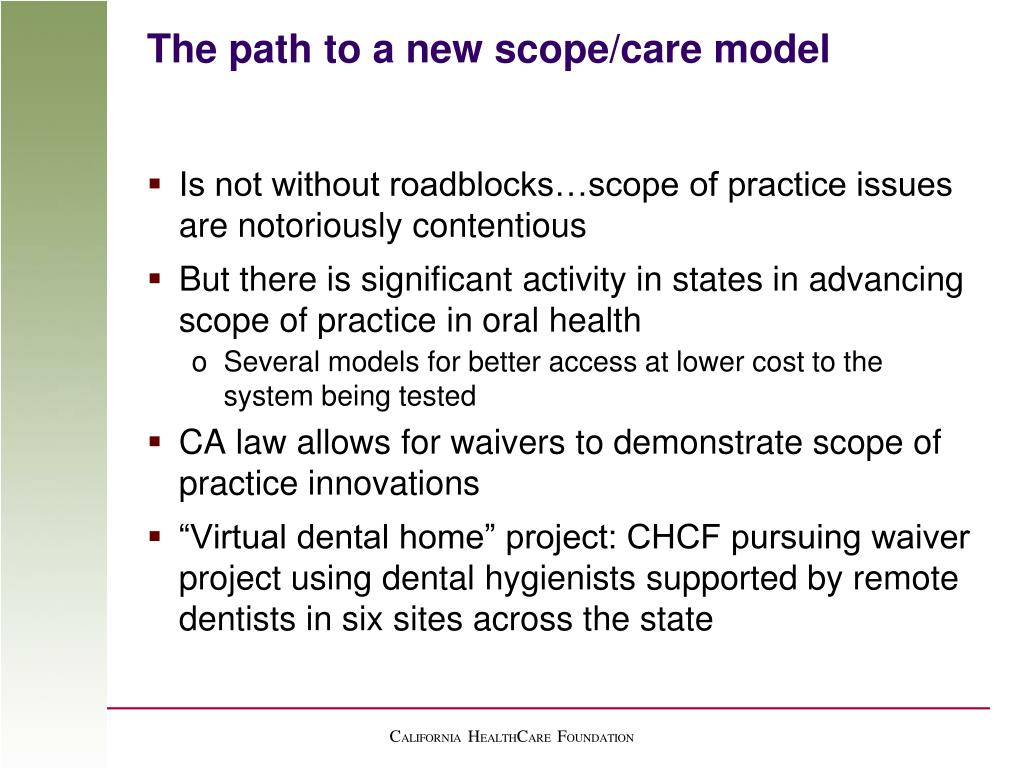 The path to a new scope/care model