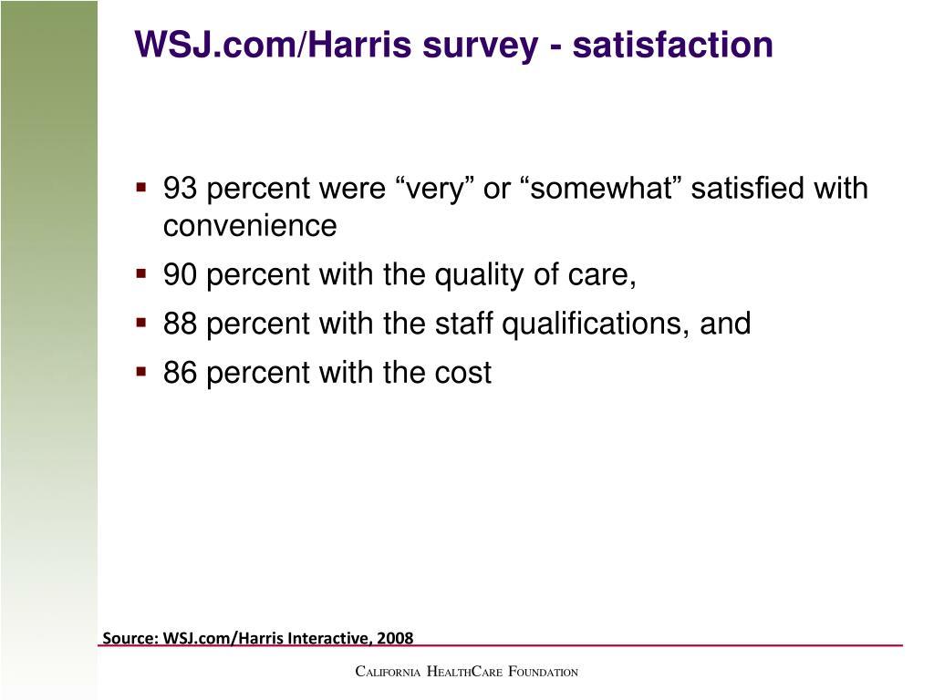 WSJ.com/Harris survey - satisfaction