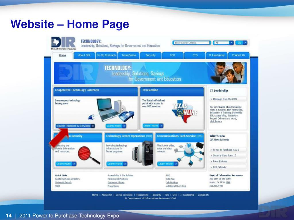 Website – Home Page