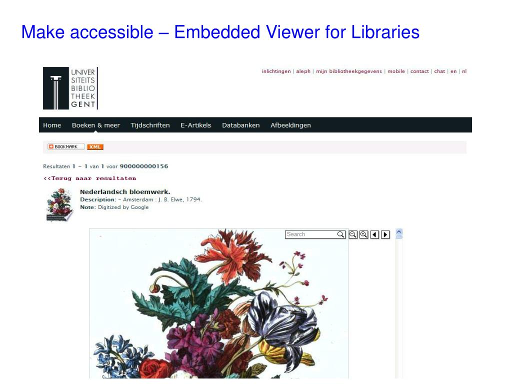 Make accessible – Embedded Viewer for Libraries