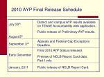 2010 ayp final release schedule