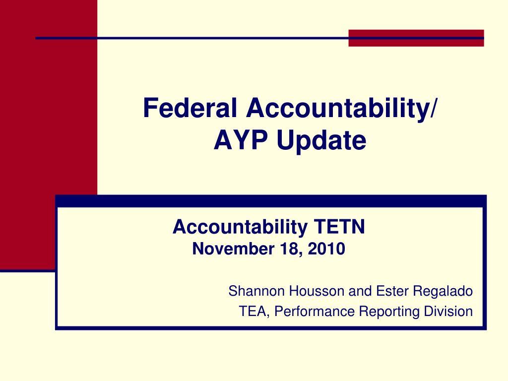 federal accountability ayp update