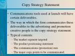 copy strategy statement