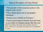 typical examples of copy points