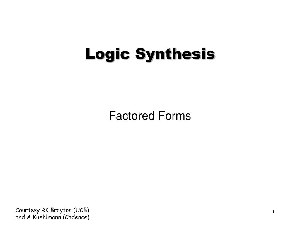 logic synthesis