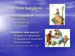 adhd core symptoms