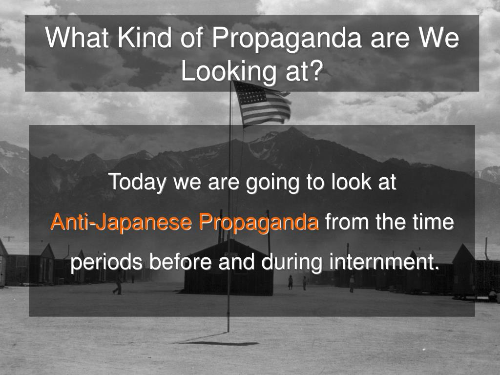 What Kind of Propaganda are We Looking at?