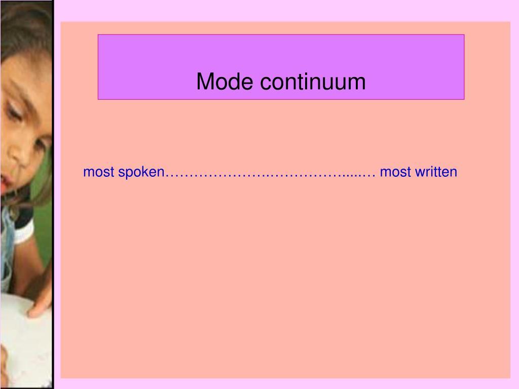 Mode continuum