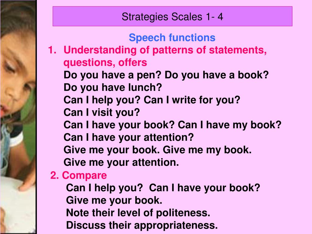 Strategies Scales 1- 4