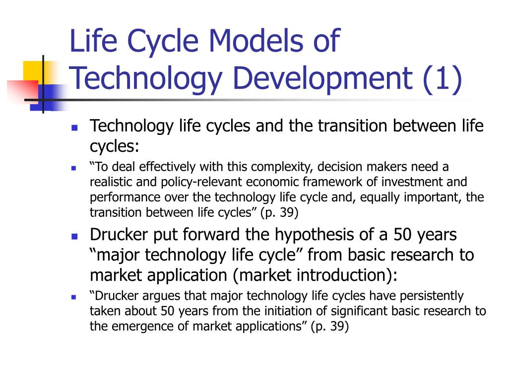 Life Cycle Models of Technology Development (1)