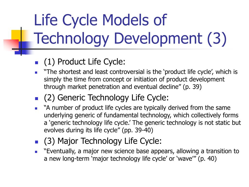 Life Cycle Models of Technology Development (3)