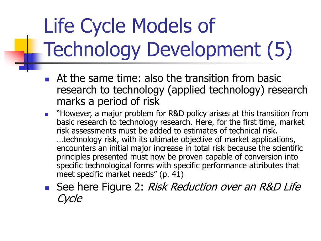 Life Cycle Models of Technology Development (5)