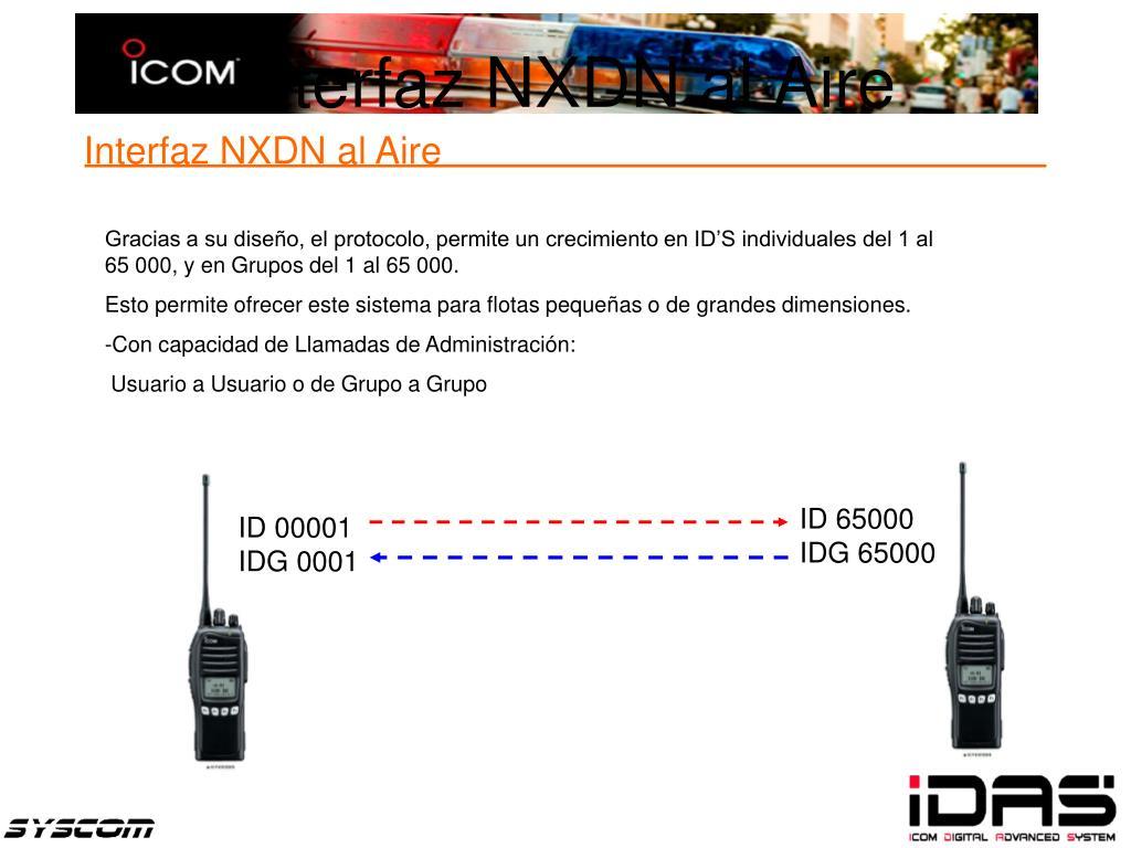 Interfaz NXDN al Aire